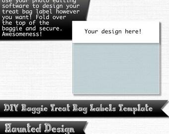 DIY Treat Bag Label Template for Parties Weddings Celebrations Baby Showers PNG w/ transparent JPEG Decoration Instant Digital Download
