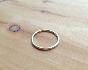 Simple Ring Band, Minimal, Stacking, Small, Sterling Silver, Handmade, Forged, Hammered, Ashley Procopio Jewelry