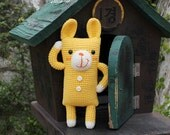 Amigurumi Pattern, Crochet Pattern, PDF Pattern, Handmade, PDF, Digital file, Doll, Animal, Cheese, Yellow, Rabbit