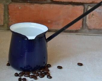 Enamel Vintage coffe maker 1950s PRL Desing