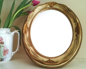 """Vintage """"Painted"""" Mirror"""