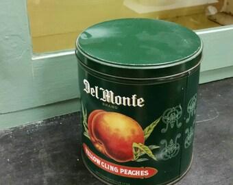 Del Monte Yellow Cling Peaches Tin