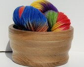 Medium Dark Hand Turned Yarn Bowl