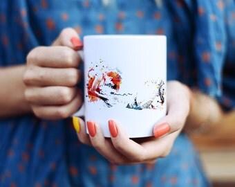 My Love Mug - Watercolor Mugs - Ceramic Mug - Art Mug - Colorful Coffee Mug