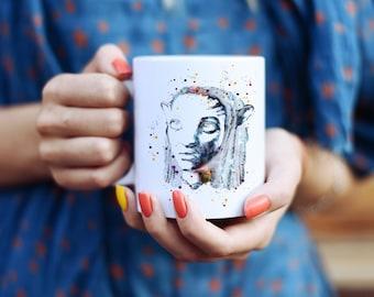 Avatar Mug - Watercolor Mugs - Ceramic Mug - Art Mug - Colorful Coffee Mug