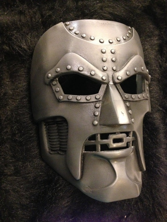 Dr Doom Mask Coldcast Aluminum Comic Book by GeeklingCreations