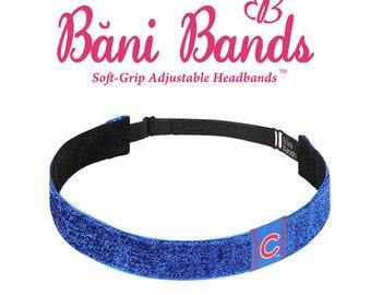 Chicago Cubs Blue Glitter Non Slip Headband