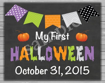 My first Halloween, Printable Halloween Card, Baby's first Halloween, Downloadable Halloween Prints