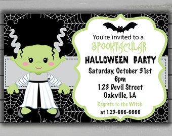 Halloween Party Invitation, Printable Halloween Invite, downloadable Halloween Invitation