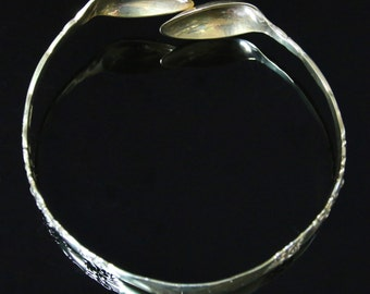 Antique Silver Gold Spoon Bangle - Dated Birmingham 1898