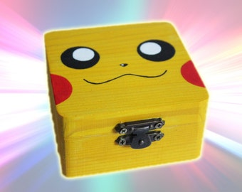 Pikachu Hand-Painted Small Storage Box