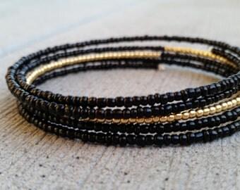 Thin Gold Line Bracelet