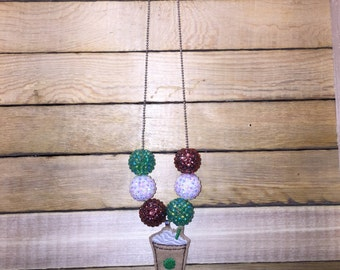 RTS Starbucks Frappucino Chunky Bubblegum Necklace