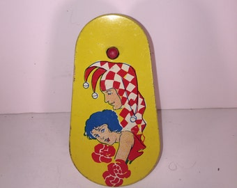 Jester and Girl Litho Tin Noisemaker