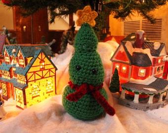 Amigurumi stuffed christmas tree