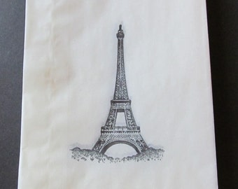 Eifel Tower Glassine Bags, Candy Buffet Bags, Birthday Parties, Favors, Wedding, Bridal Showers, Cookie Bags, Gift Bags