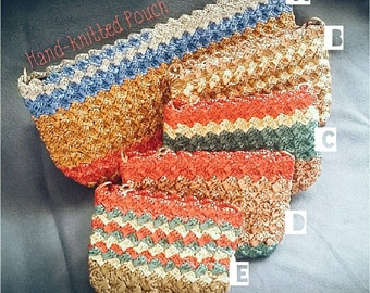 Natural Rayon Hand-knitted Pouch