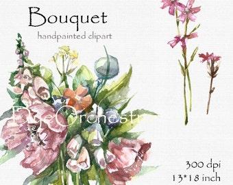 Floral Wedding Clipart, Wedding Flower Clipart, Digital Wedding Clipart, Digital Wedding Flowers