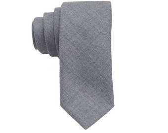 Modern Grey Wool Ties.Gray Ties for Men.Wool Neckties.Skinny Wool Neckties