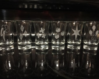 My Little Pony Cutie Mark Shot Glasses
