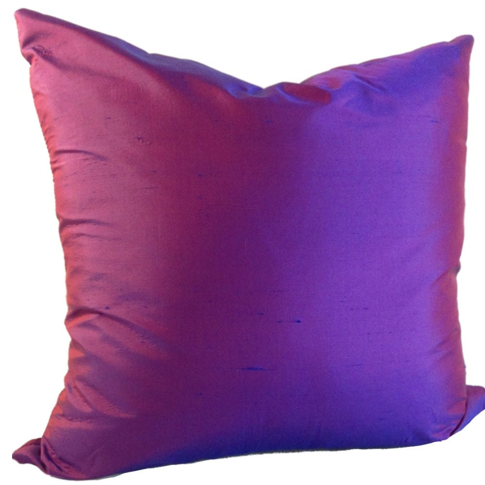 Purple SILK Pillow Cover Silk Pillow In Purple Silk Couch