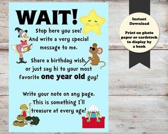 Nursery Rhyme First Birthday, Nursery Rhyme Book Saying, Mother Goose 1st Birthday, Mother Goose Book, INSTANT DOWNLOAD, Nursery Rhymes