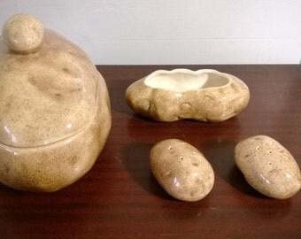 Ceramic Potato Serving set by Atlantic Mold Co. ( potato love )