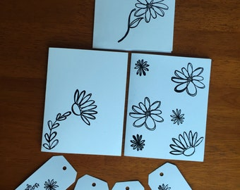 Set of 3 Cards and 4 Tags