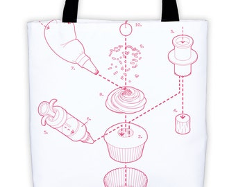 Exploded Cupcake Tote Bag