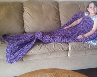 SALE!!!! Mermaid Tail Fin Blanket for Adult/Child