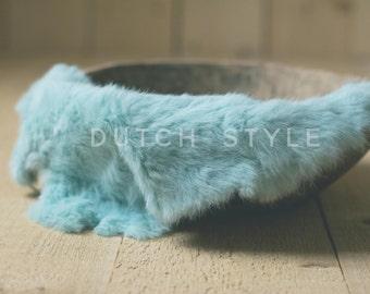 Hand-dyed Genuine Rabbit Fur Prop, Newborn Prop, Posing Prop, Genuine Fur