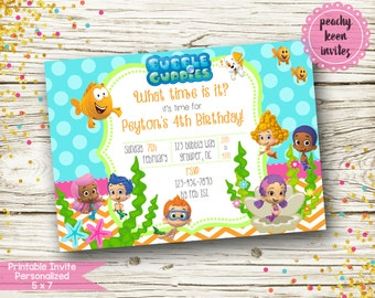 Bubble Guppies Inspired Birthday Invitation [DIGITAL]