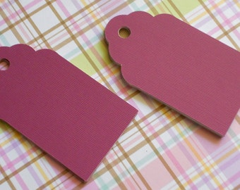 "Gift Tags - Paper Tags -  mulberry color tags - 18 paper tags 1 3/4"" x 3"""