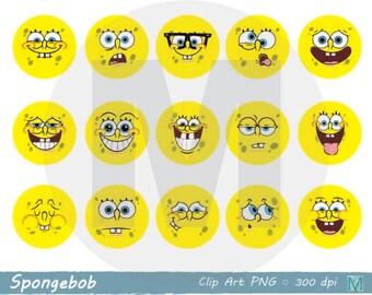 Spongebob clipart   Etsy