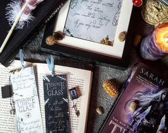 Throne of glass (new) bookmark- Handmade