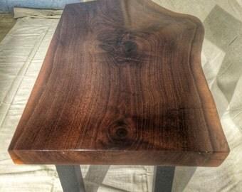 Wood Slab Coffee Table, Walnut
