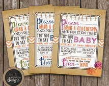 """Fall In LOVE """"Don't Say Baby"""" BABY SHOWER Game - Boy, Girl or Gender Neutral  - Instant Download - Fall Theme - Autumn - Blooming Flowers -"""