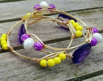 ECU wire wrapped bangles