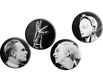 Metropolis (1927) handmade film / movie badge set [Fritz Lang]
