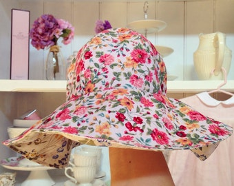 big brim sun hat for baby girl