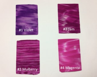 Supply Nylon Stocking Fabric Tie-Dyeing Flower Floral High Stretch Plain DIY Material Violet Jam Mulberry Magenta Spandex