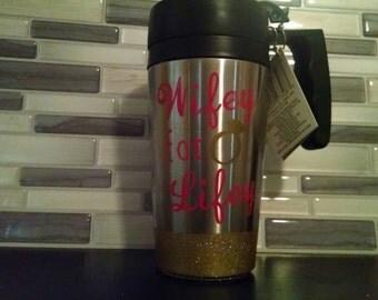 14 oz. Wifey For Lifey insulated, travel coffee mug
