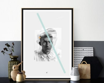 Fashion Print, Fashion Art, Fashion Minimalist Poster, Man Model Print, Scandinavian Poster,Black and White Photography,Affiche Scandinave