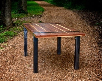 Cedar coffee table etsy for Really cool dining tables