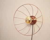 copper lamp and metal