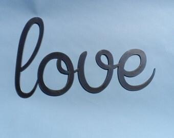 Love Art metal word decor!