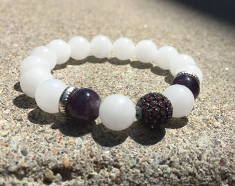 White Jade and Amethyst