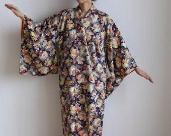 Kimono, kimono dress, Japanese kimono, silk kimono, long kimono, Japanese dress /458