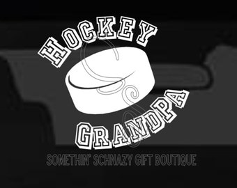 Hockey Decal, Vinyl Decal, Hockey Grandpa Vinyl Decal, Window Decal, Car Decal, Laptop Decal, Tablet Decal, Hockey Family Decal