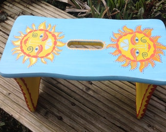 OOAK child's pine stool